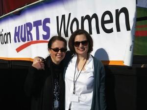 Eva, left, with Walk for Life West co-founder Karen McLaughlin