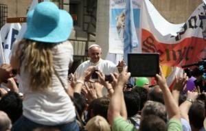 Pope Francis at the May 12 Marcia per la Vita (March for Life) Internazionale