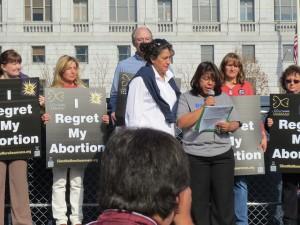 Women at the Silent No More Awareness rally. Courtesy LifeSiteNews.