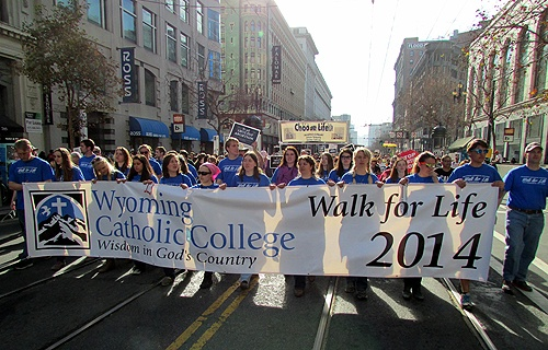 Students_from_Wyoming_Catholic_College_take_part_in_the_2014_Walk_for_Life_West_Coast_in_San_Francisco_Jan_25_2014_Credit_Wyoming_Catholic_Col